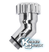 Aluminum Angled Oil Filler With Vent & Billet Cap, Polished