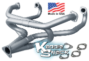 "KSR 1-1/2"" True Merged Headers, Made in USA, Raw Steel"