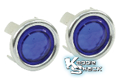 """Blue Dots"" Accessory For Taillights, with Chrome Ring, Pair"
