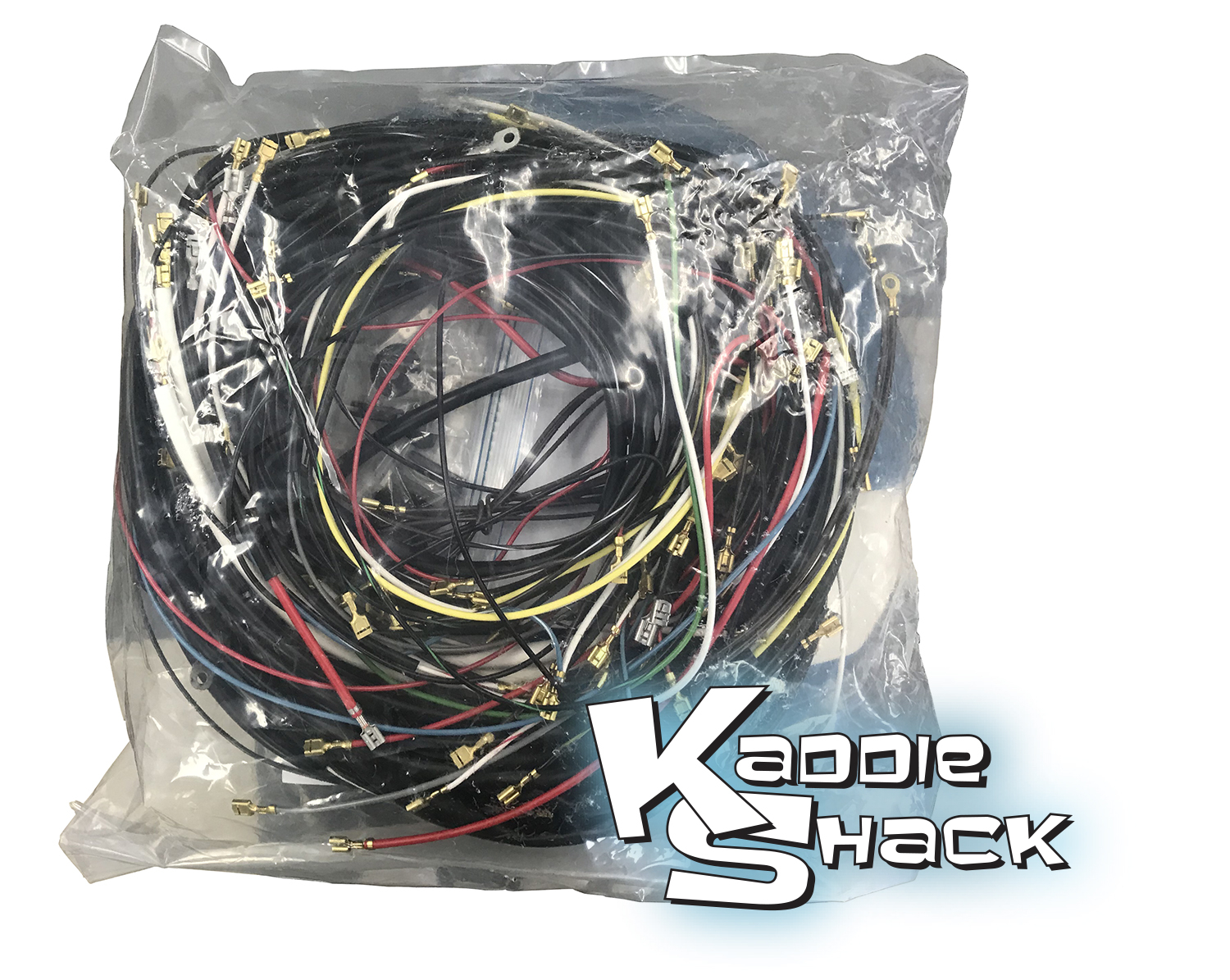 complete wiring harness, fits '61 only convertible bug - kaddie shack:  parts & accessories for vintage vw's